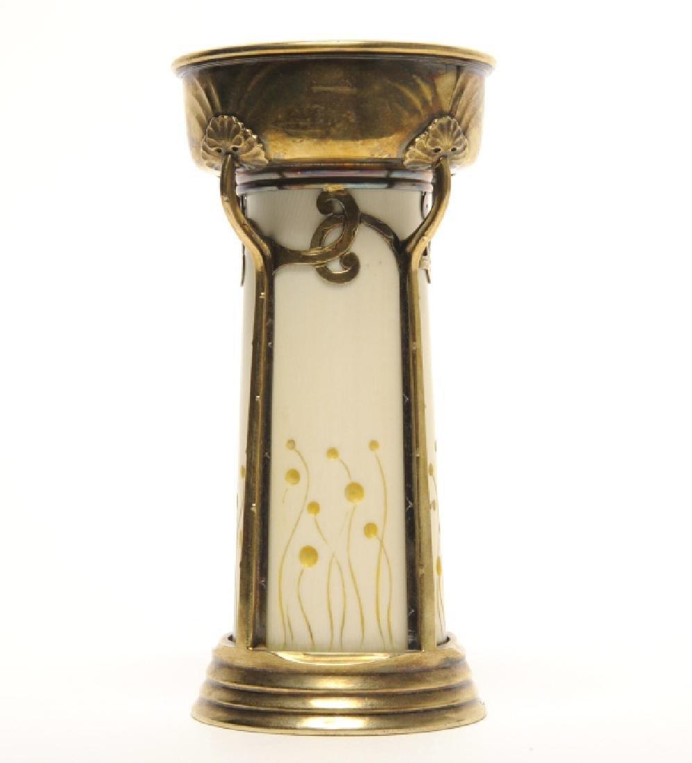 """French Art Nouveau Cardeilhac Gilt Silver Vase 5"""""""