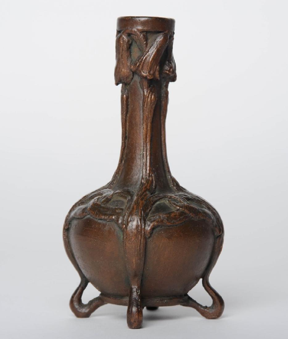 "After LCT TIFFANY Art Nouveau Bronze Bud Vase 5.5"""