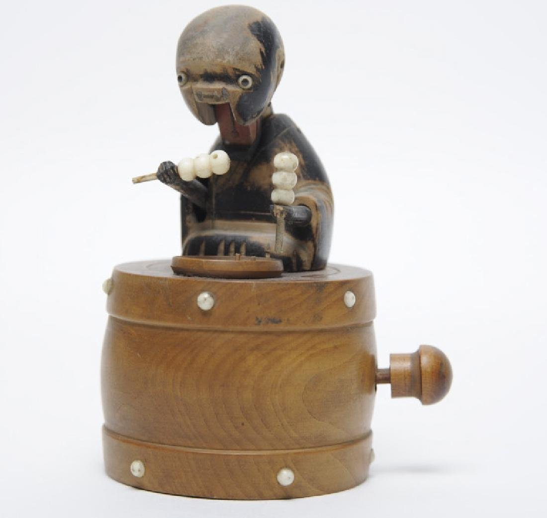 Antique Japanese Kobe Wood Articulated Hungry TOY