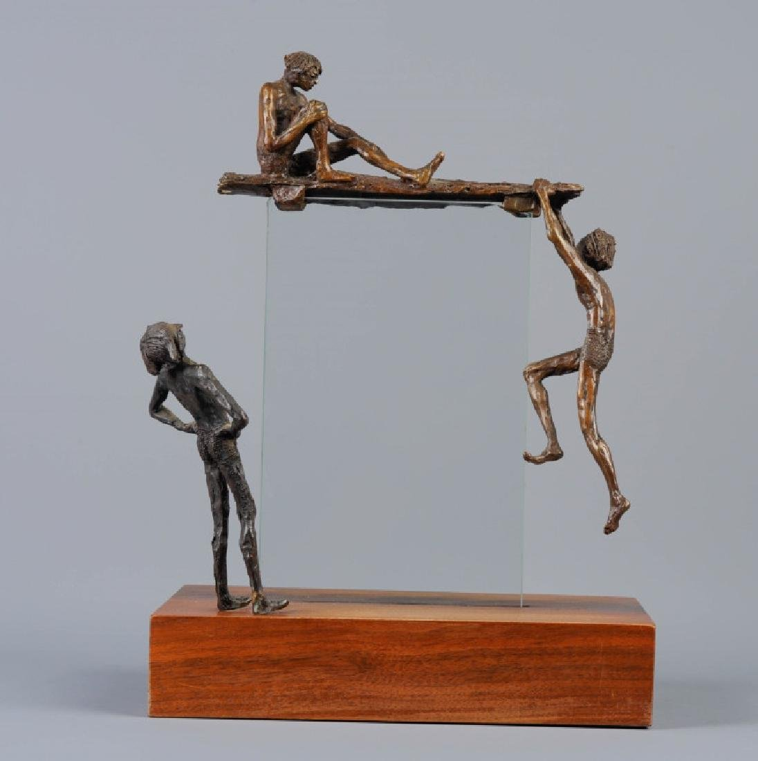 Mervine Chianelli One Looks At Two Bronze Statue