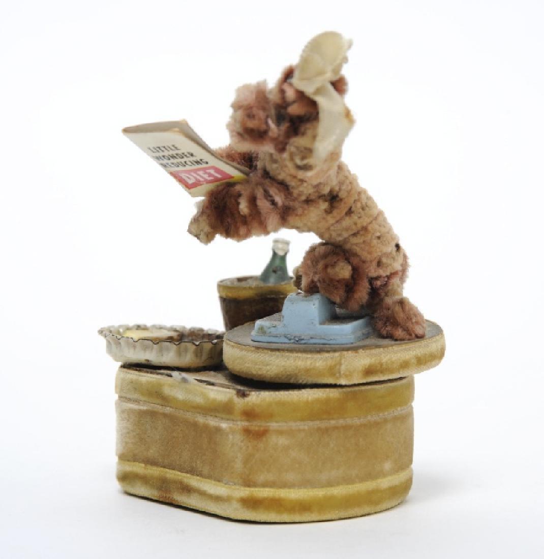 Jerry McMillan Folk Art Chenille Dog Music Box