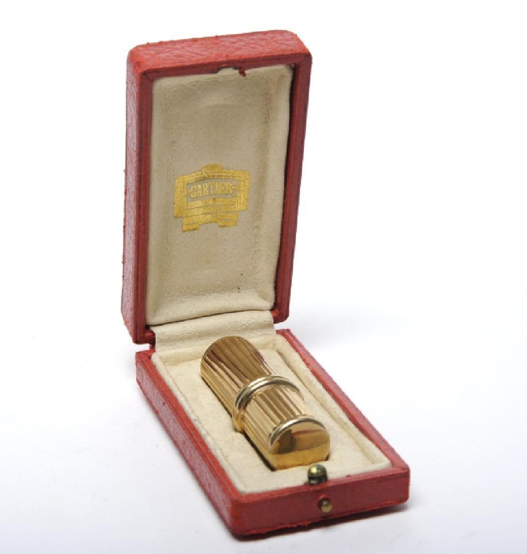 Signed Jacques CARTIER Tom Pouse 9k Gold Lighter