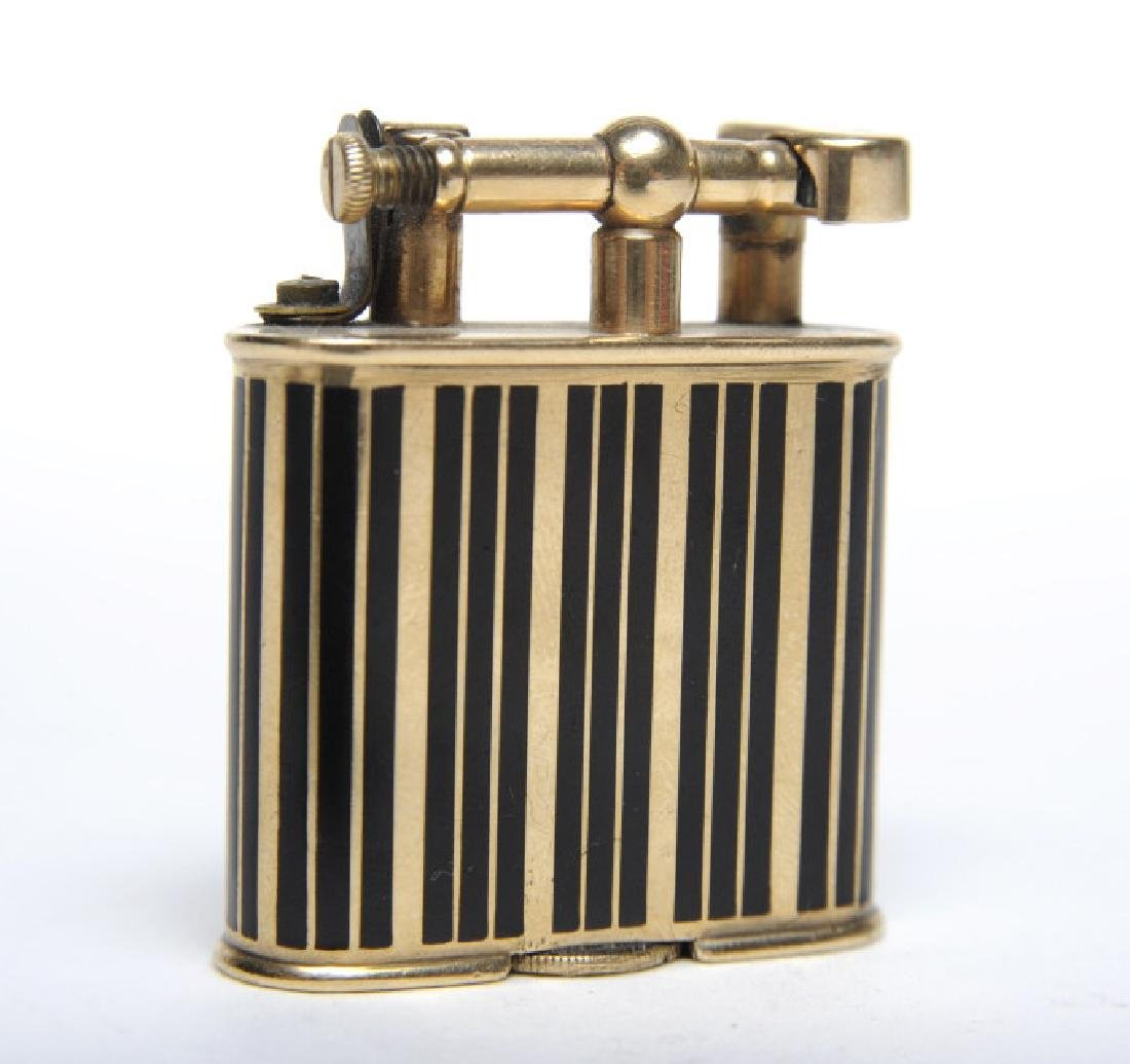 Dunhill Unique 9k Gold Enameled Pocket Lighter