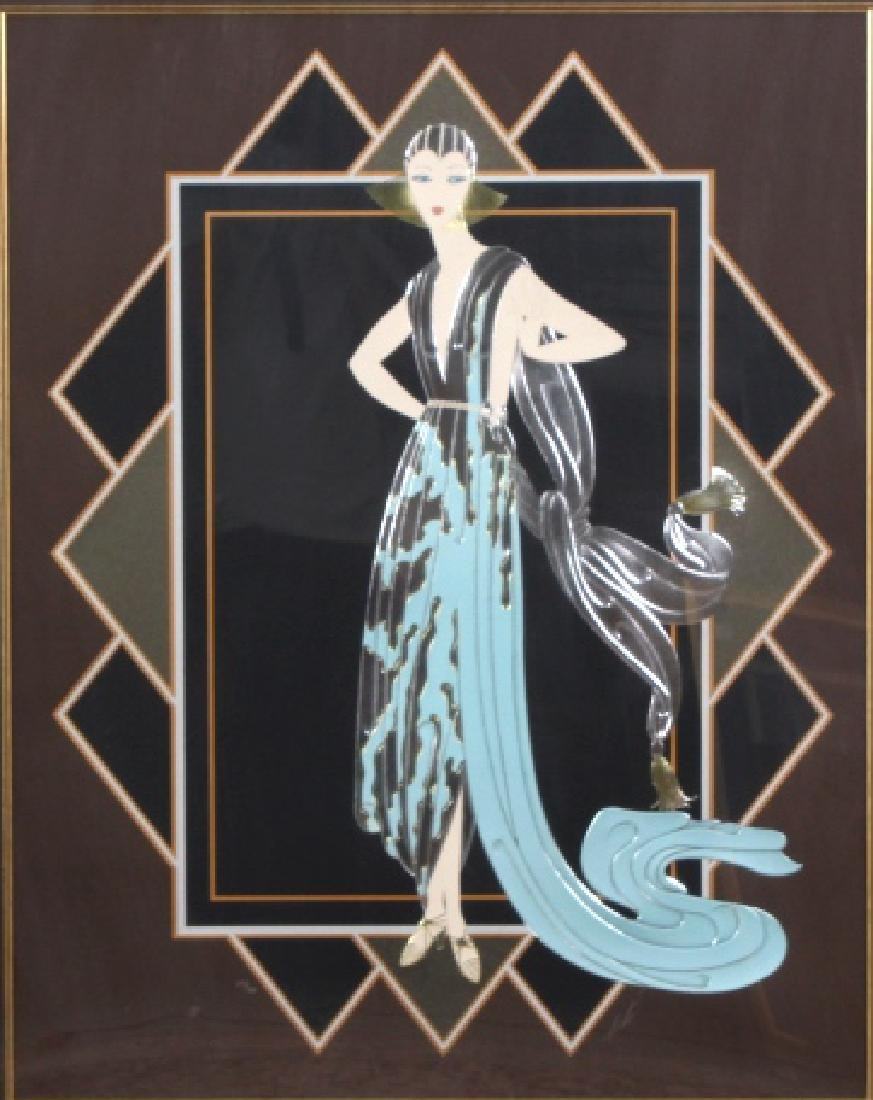 Signed ERTE California Foil Embossed Serigraph