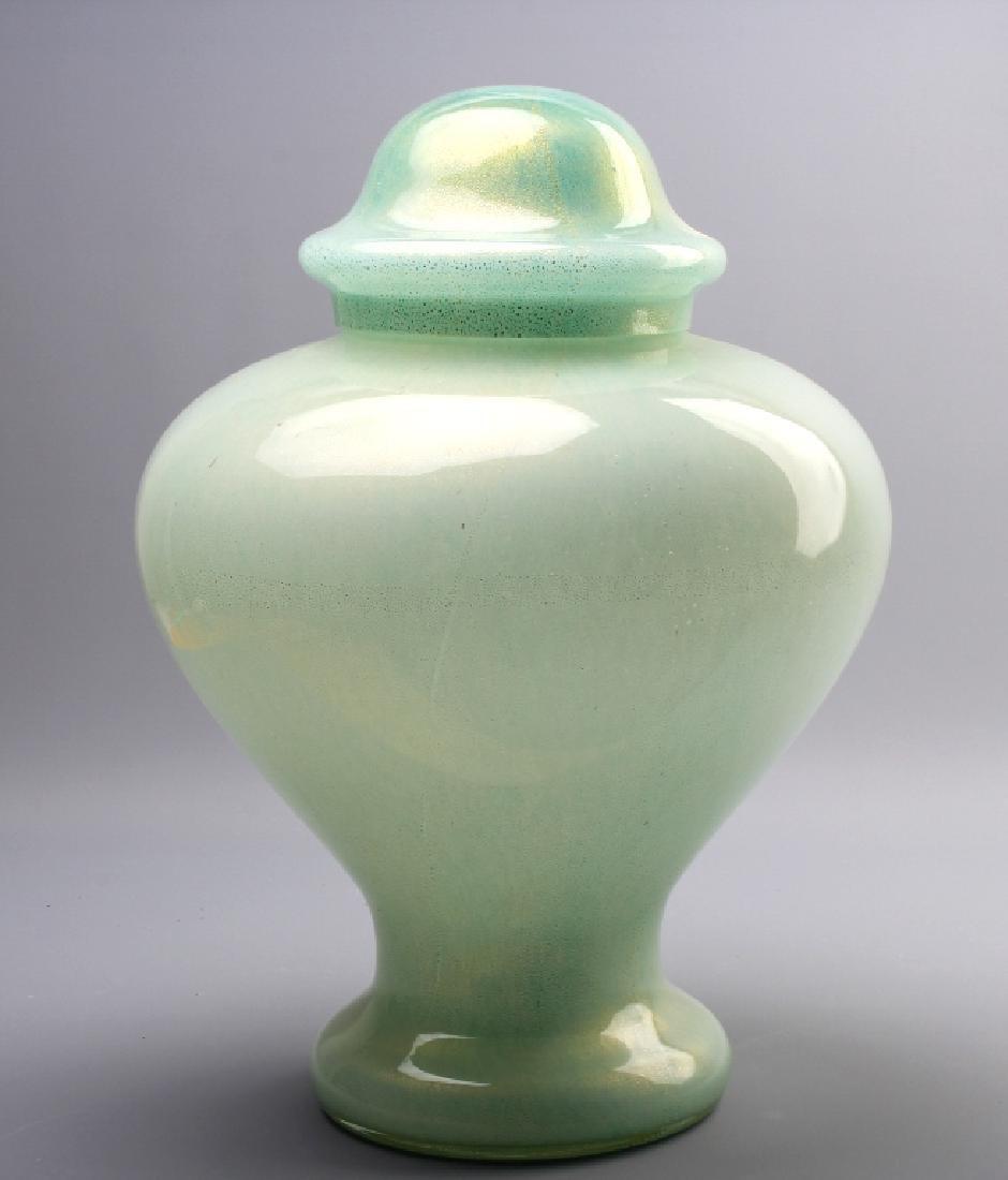 """Ercole Barovier Toso Murano Art Glass Urn Vase 15"""""""