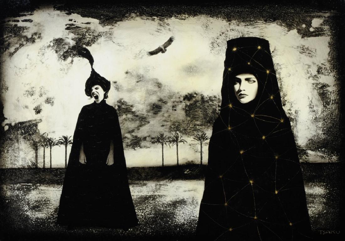 Timur Tsaku THE CRY Surrealist Oil Painting LISTED