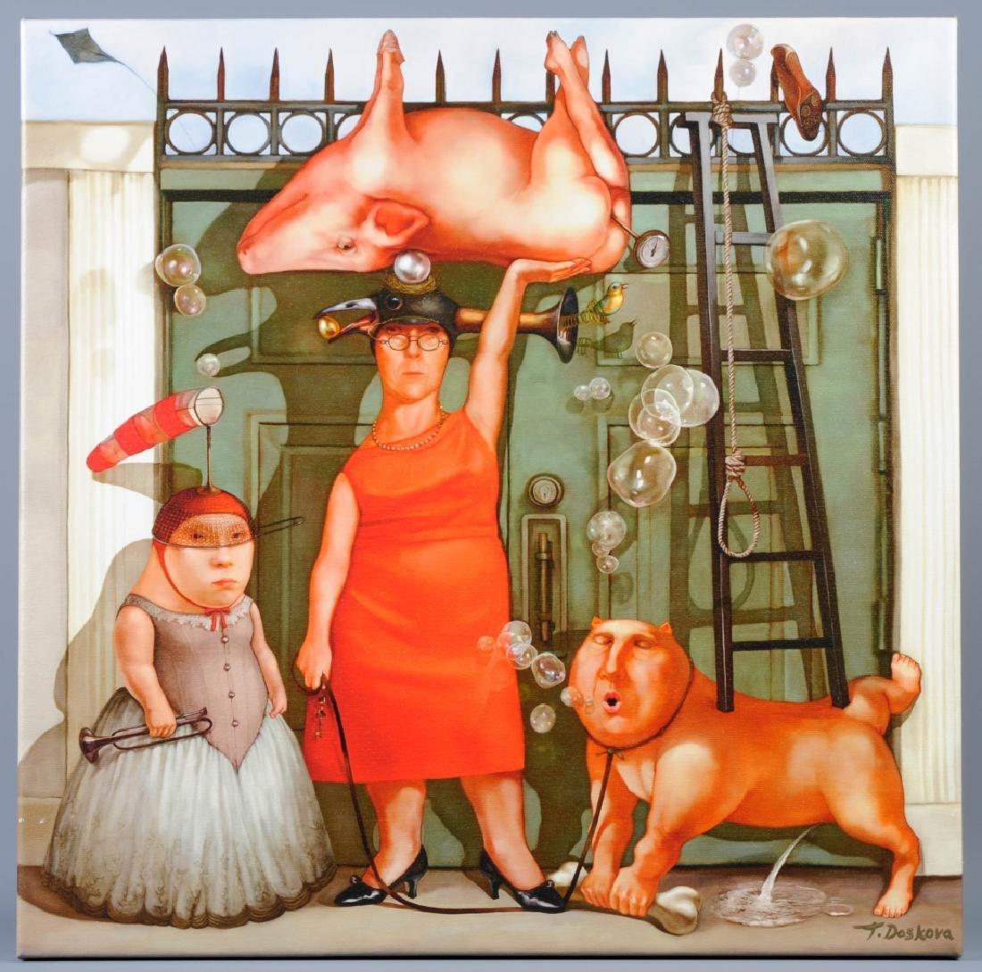 Tanya Doscova THE GATEKEEPERS Surrealist Giclee