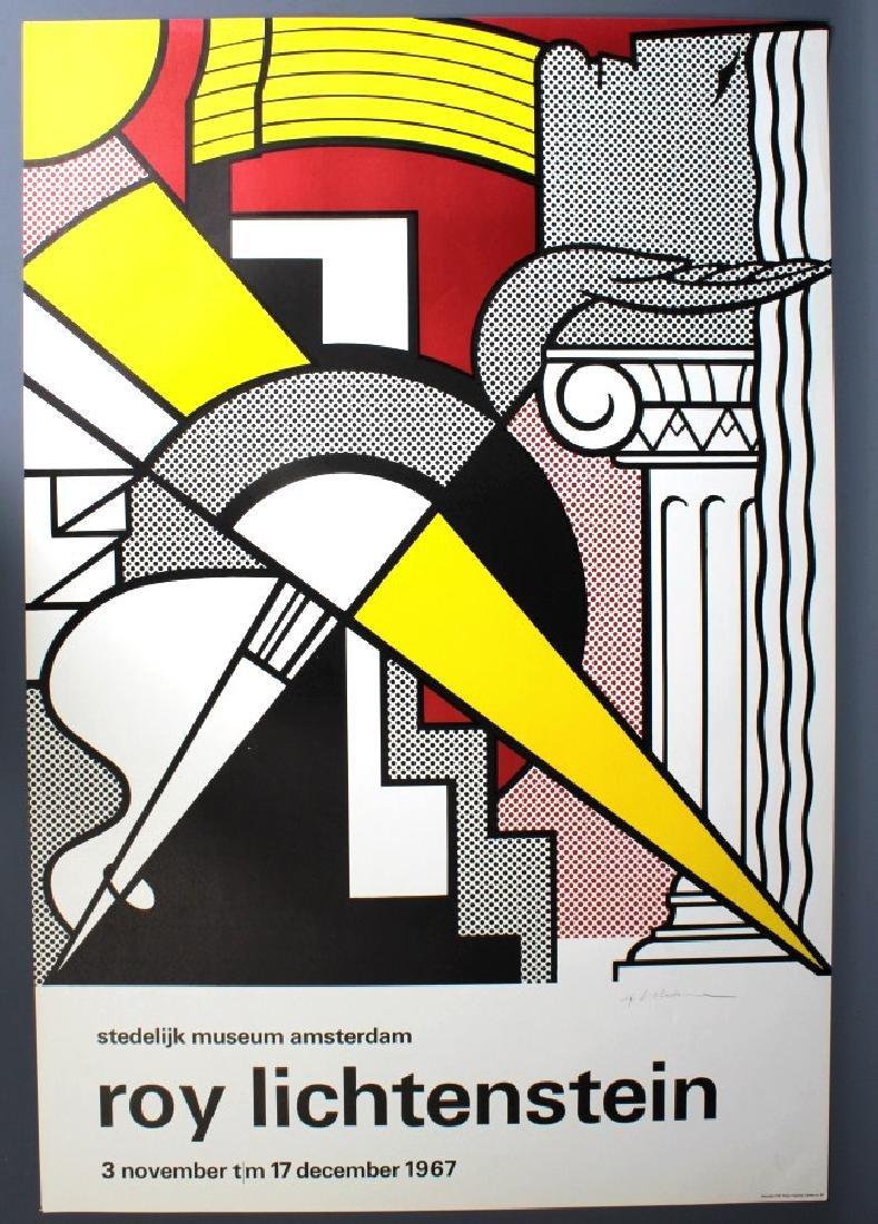 SIGNED Roy Lichtenstein 1967 Pop Art Museum Poster