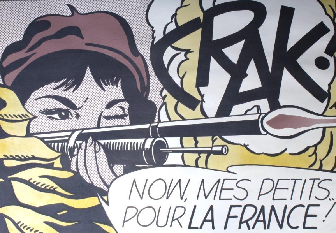 SIGNED Roy Lichtenstein Crak! Pop Art Offset Litho
