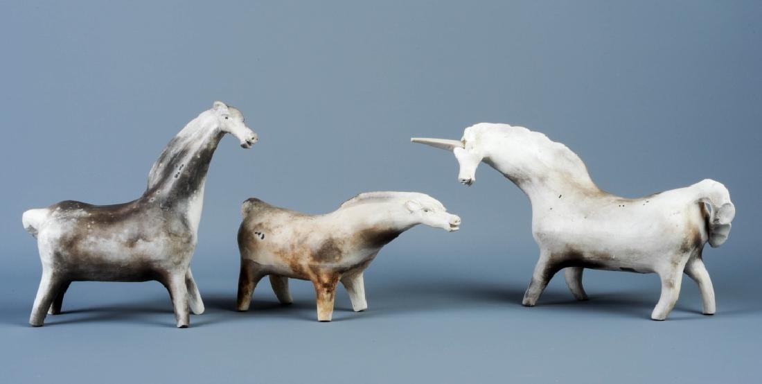 LOT of 3 ALVA MILETTI Quebecoise Pottery Horses