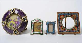 Lot of 4 Miniature Picture Sweetheart Photo Frames