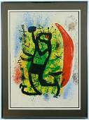 Pencil Signed Joan MIRO Le Homard Color Lithograph