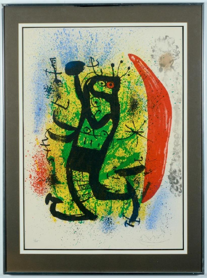 Pencil Signed Joan MIRO Le Homard Color Lithograph