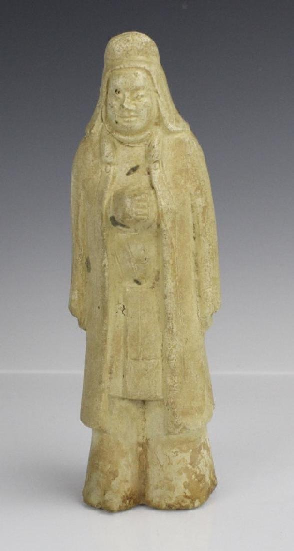 Tang Dynasty Red Pottery Figure of Robed Official