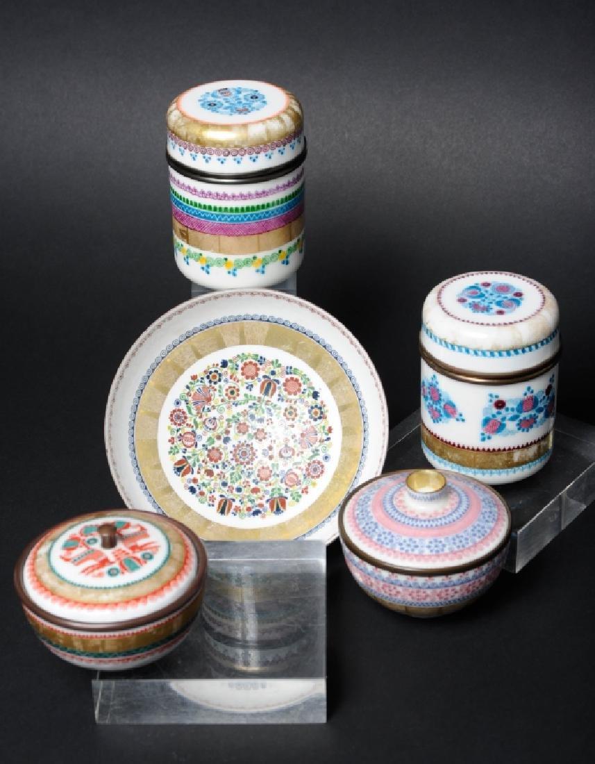 LOT 5 Mid Century Austrian Enameled Works Box Dish
