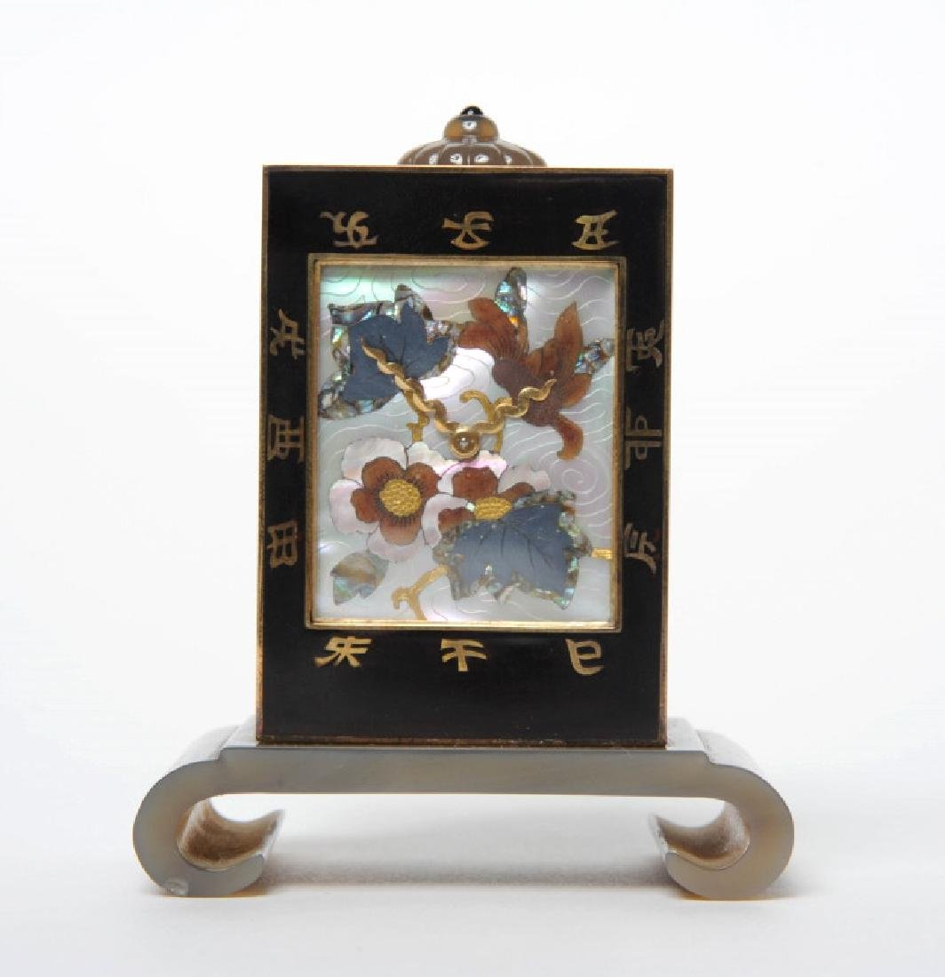 Art Deco Mother of Pearl Clock by Linzeler Marchak