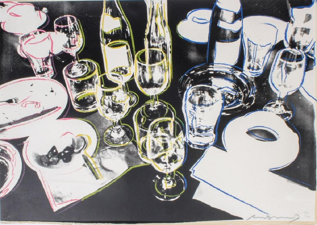 "Signed  ANDY WARHOL ""After The Party"" Screenprint"
