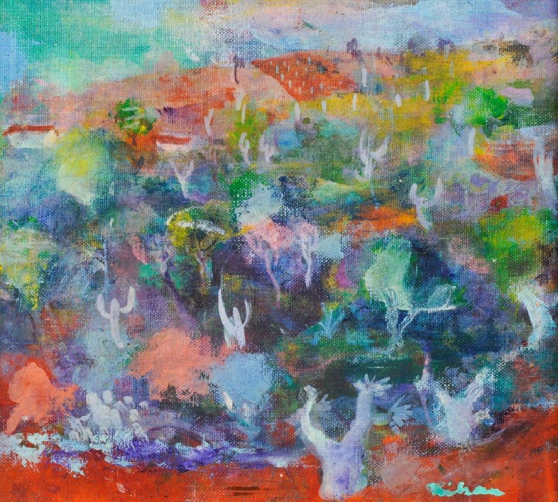 Gustav Likan Impressionist Landscape Oil Painting