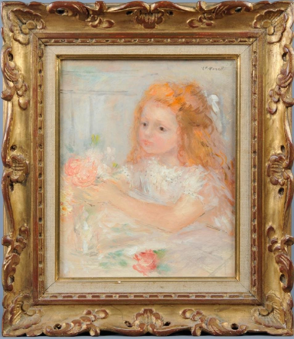 Lucien Philippe Moretti Girl Portrait Oil Painting