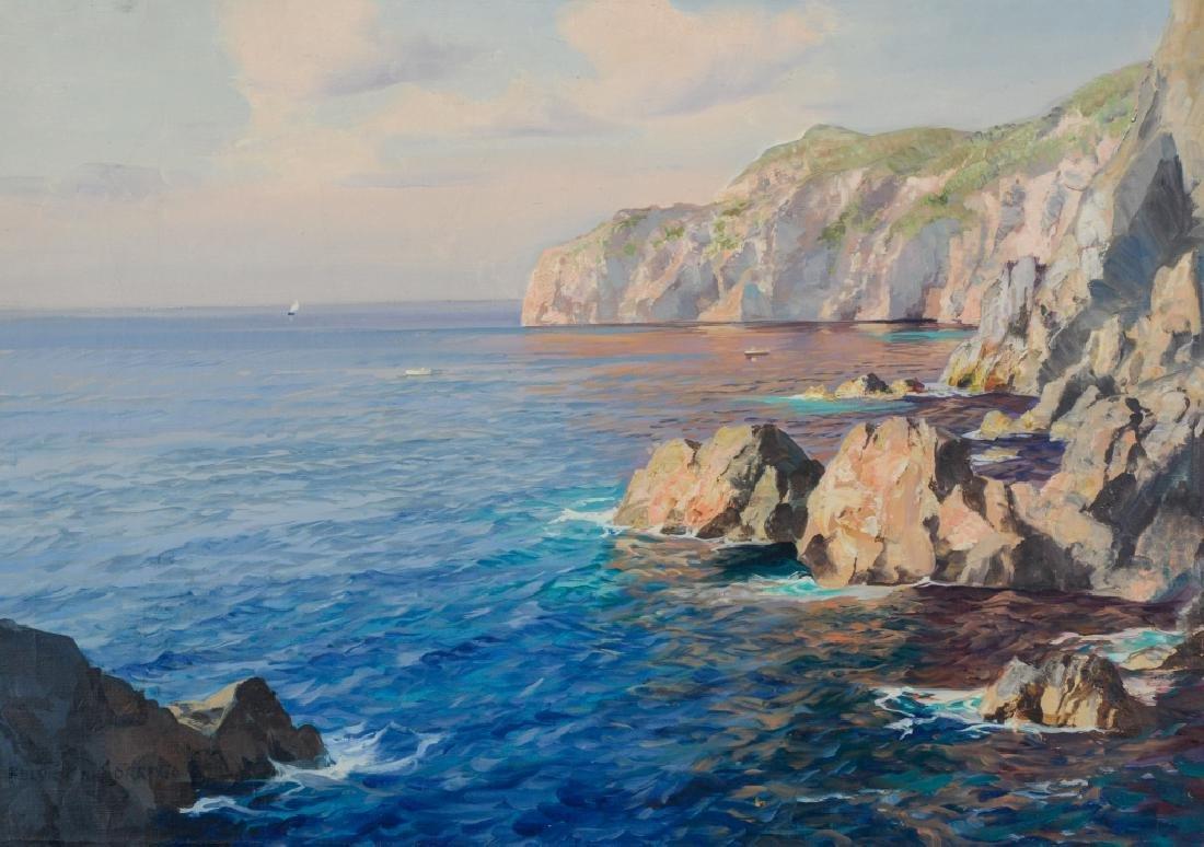 FULVIO DI SORRENTO Italian Seascape Oil Painting