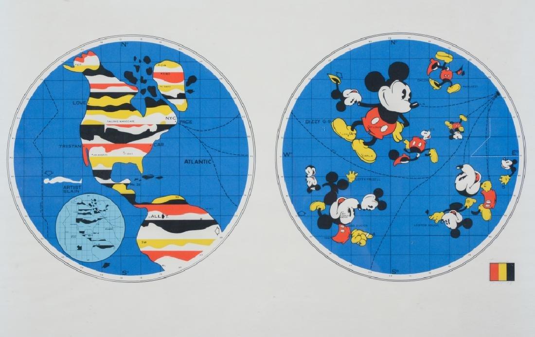 ERNEST TROVA Falling Man Mickey Mouse World Print