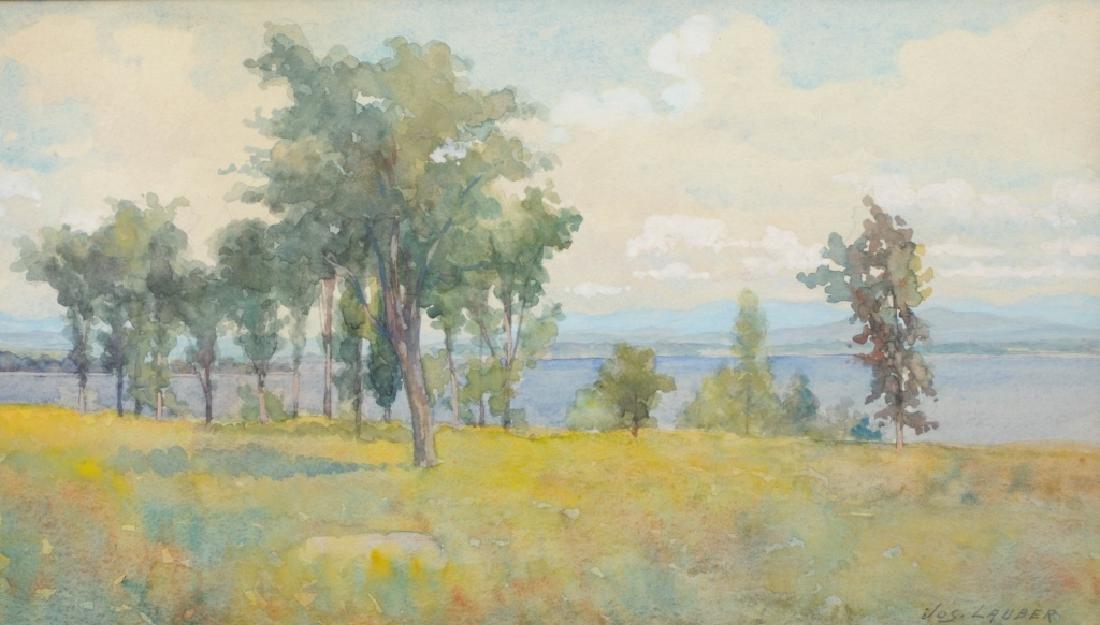 Joseph Lauber Watercolor Landscape Painting LISTED