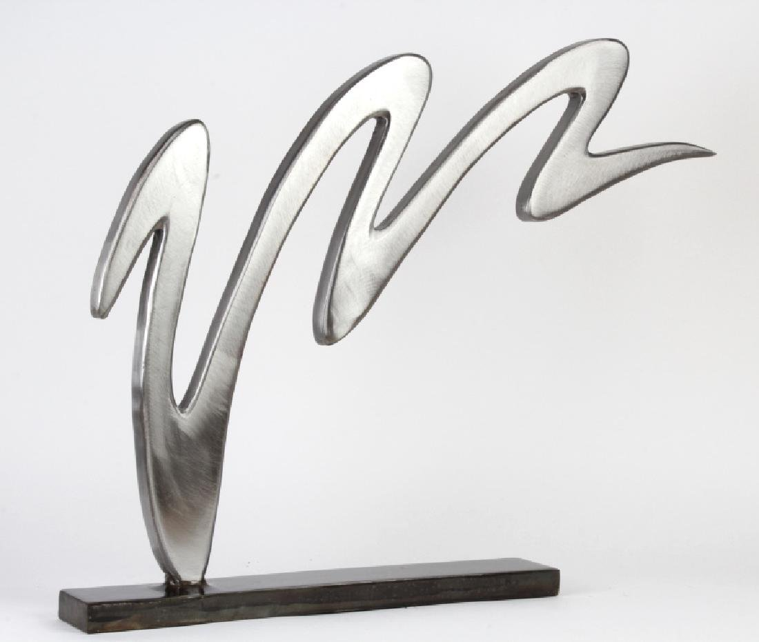 Steve Jensen Modernist Steel Squiggle Sculpture LE