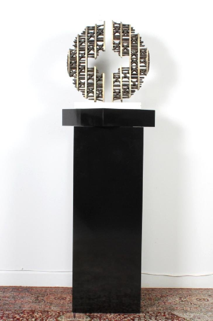 Signed KING Mid Century Modern Brutalist Sculpture