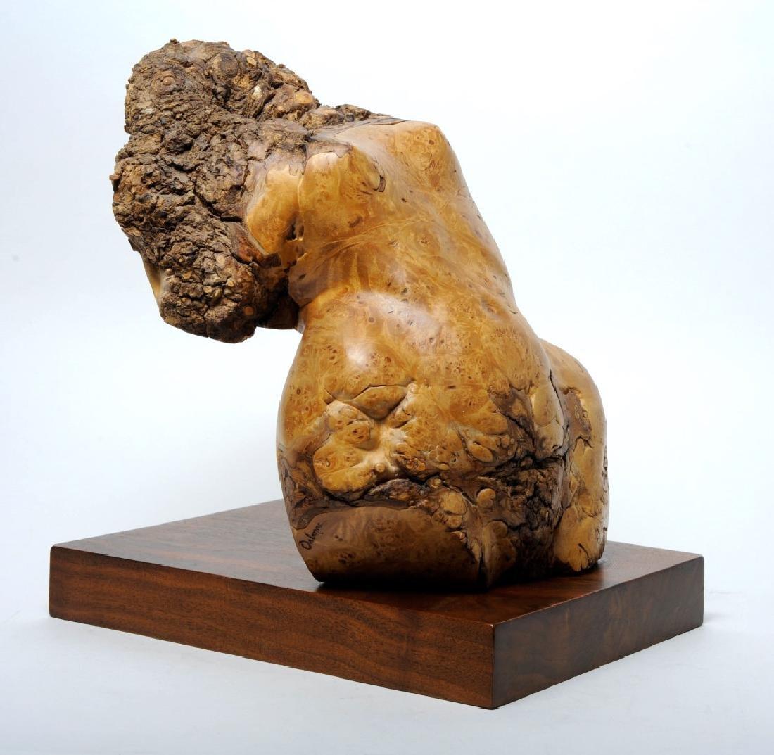 Leo Osborne Burl Wood TORSO Art Sculpture LISTED