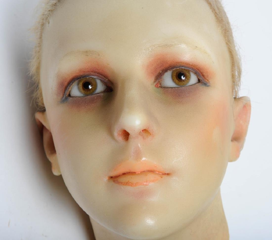 ART DECO Wax French Flapper Girl Mannequin Head
