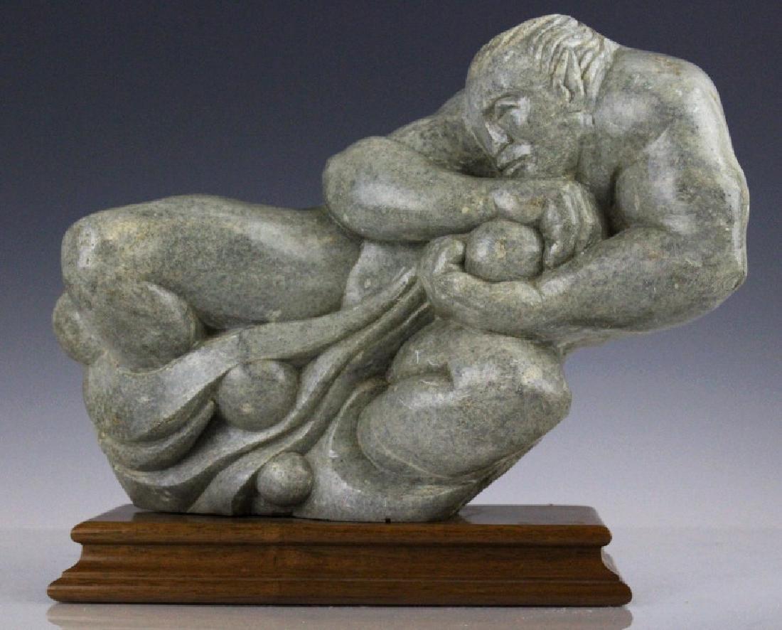 Zeus Greek God Artist Hand Carved Stone Sculpture