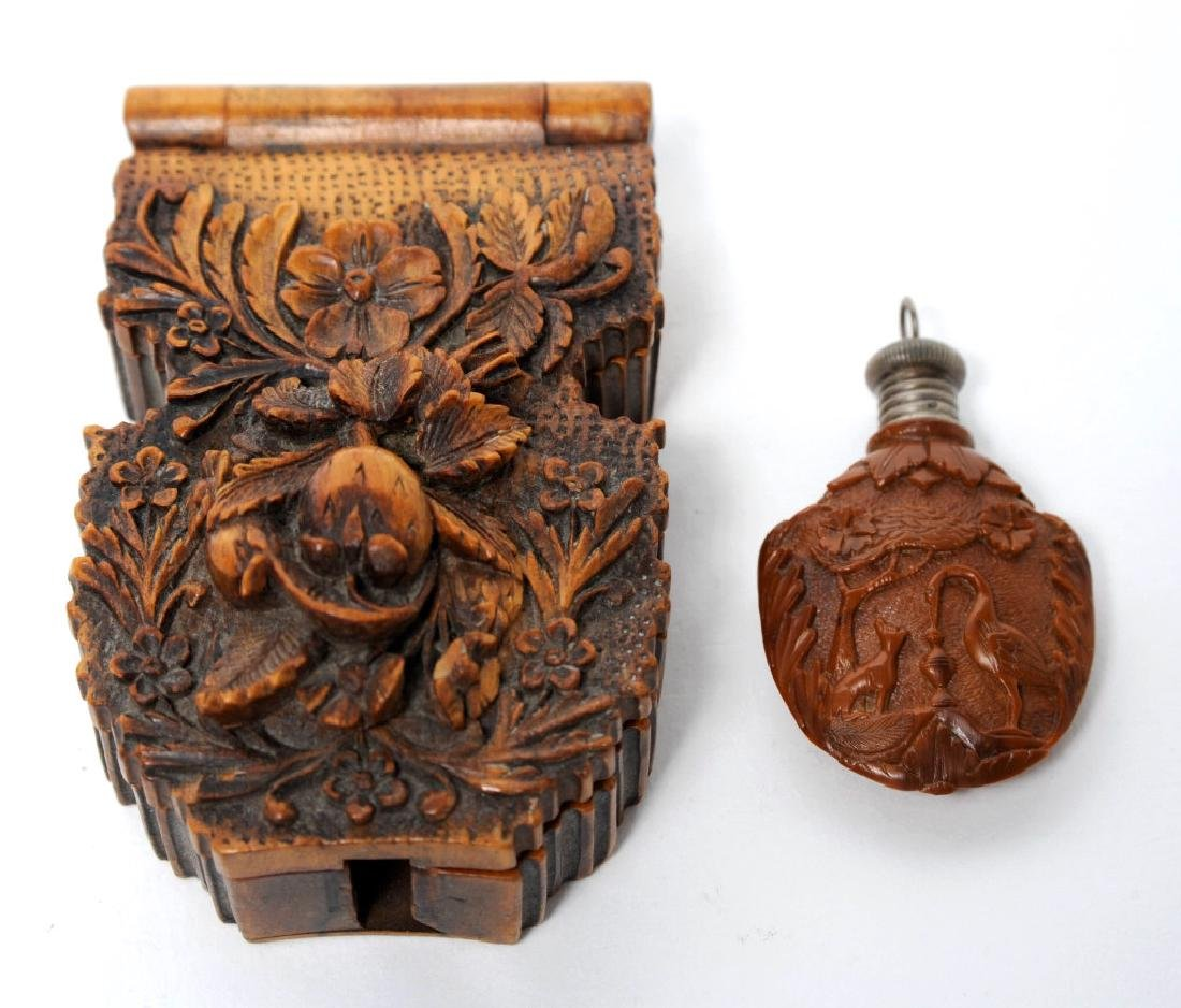 Antique Victorian Black Forest Carved Watch Holder