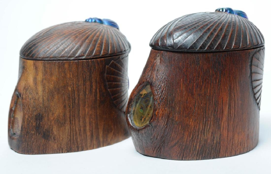 PAIR of Louis C Tiffany Studios Scarab Humidor Box - 7