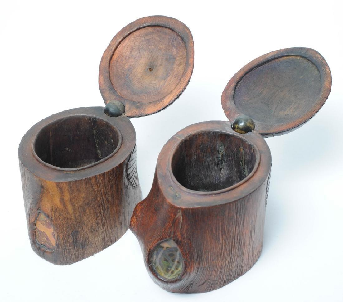 PAIR of Louis C Tiffany Studios Scarab Humidor Box - 8