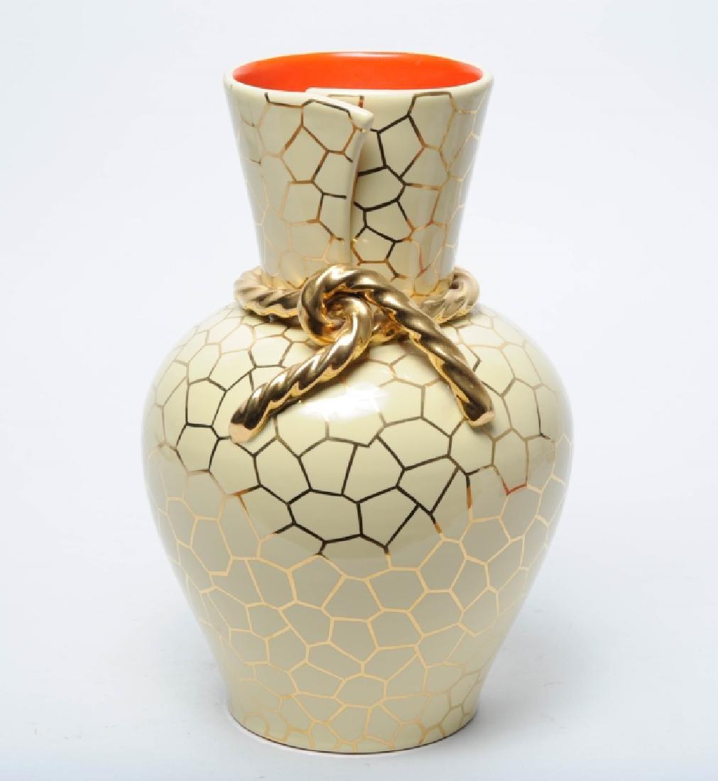 Mid Century Modern Italian Gold Gilt Vase SIGNED