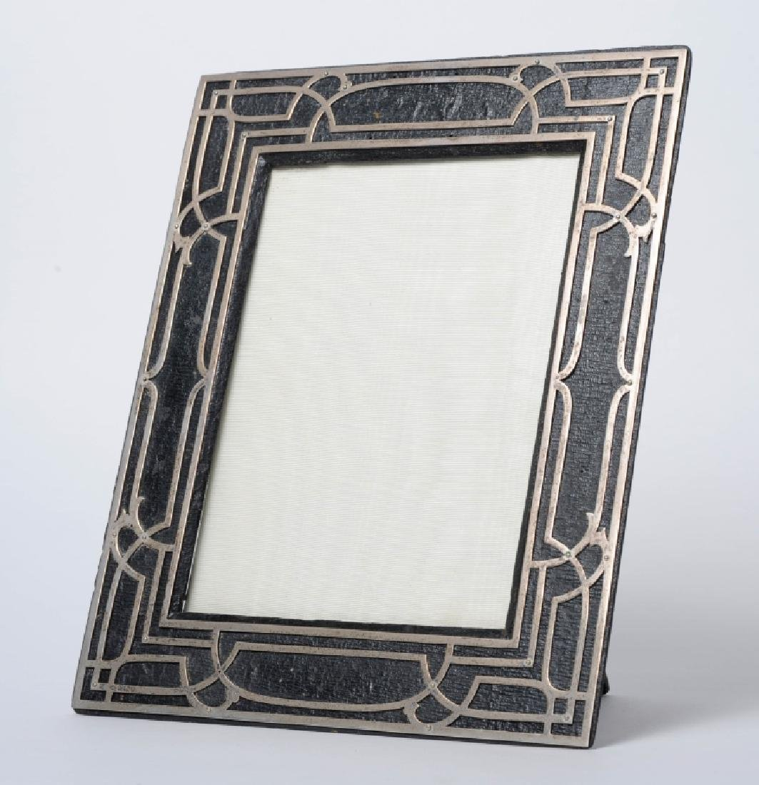 English Arts Crafts Style Sterling Picture Frame