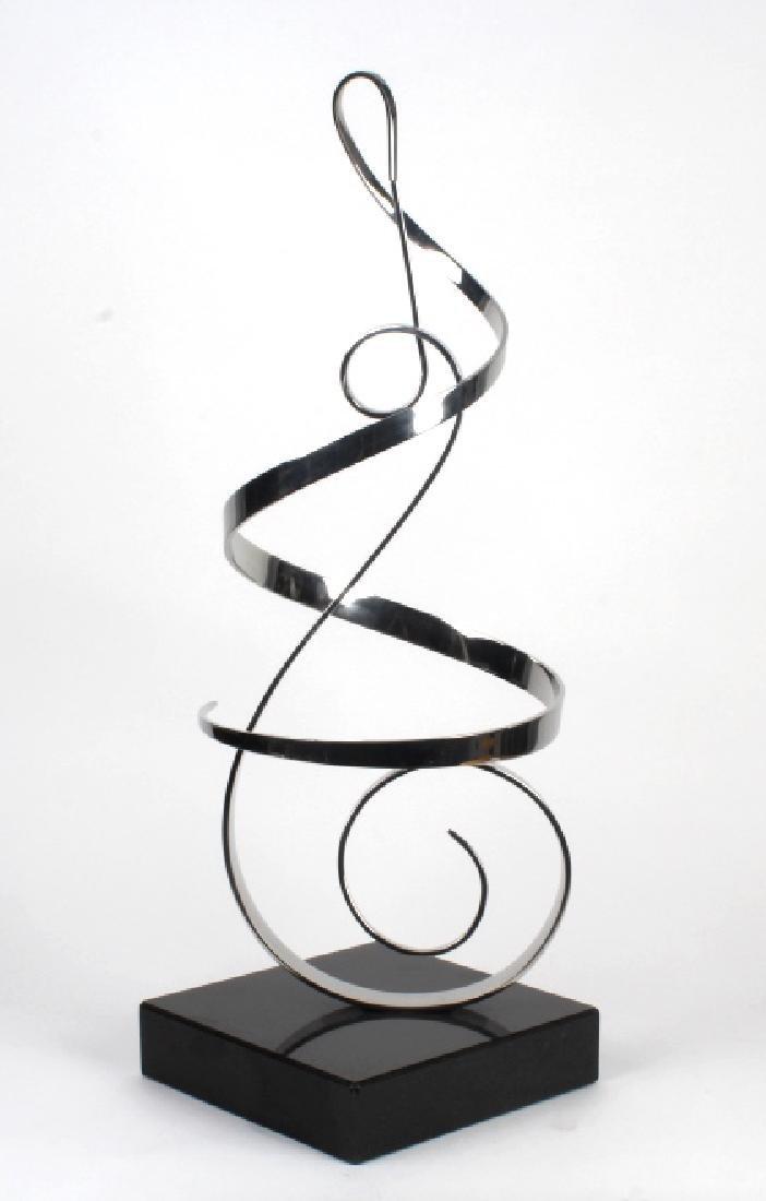 "Gary Traczyk Modern hrome Kinetic Sculpture 28"""