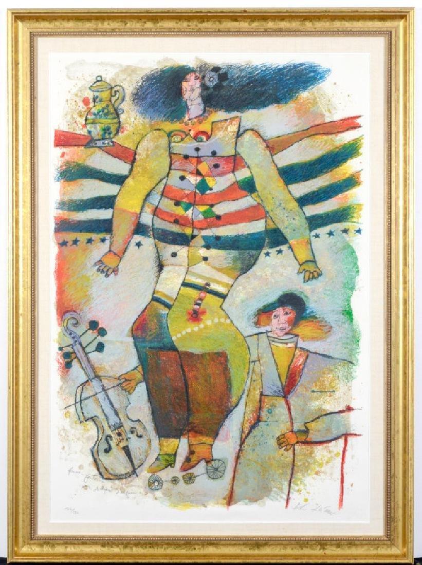 Large Theo Tobiasse Femme Fantasme Serigraph Print