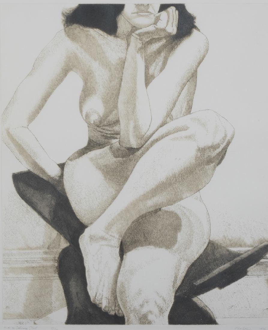 Philip Pearlstein Nude on Dahomey Stool Etching