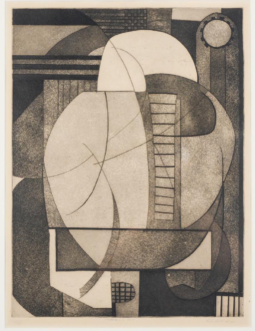 Carlos Cuellar Latin American Modernist Etching