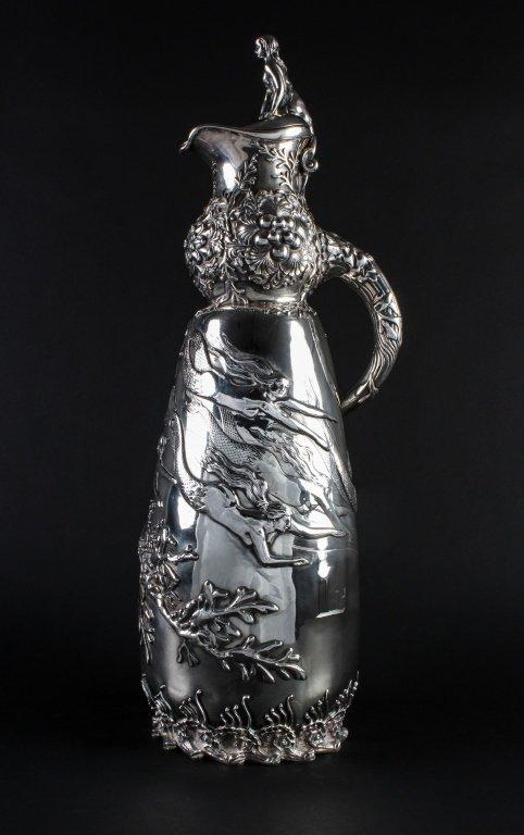 """21"""" George Gebelein Sterling Silver Mermaid Trophy"""