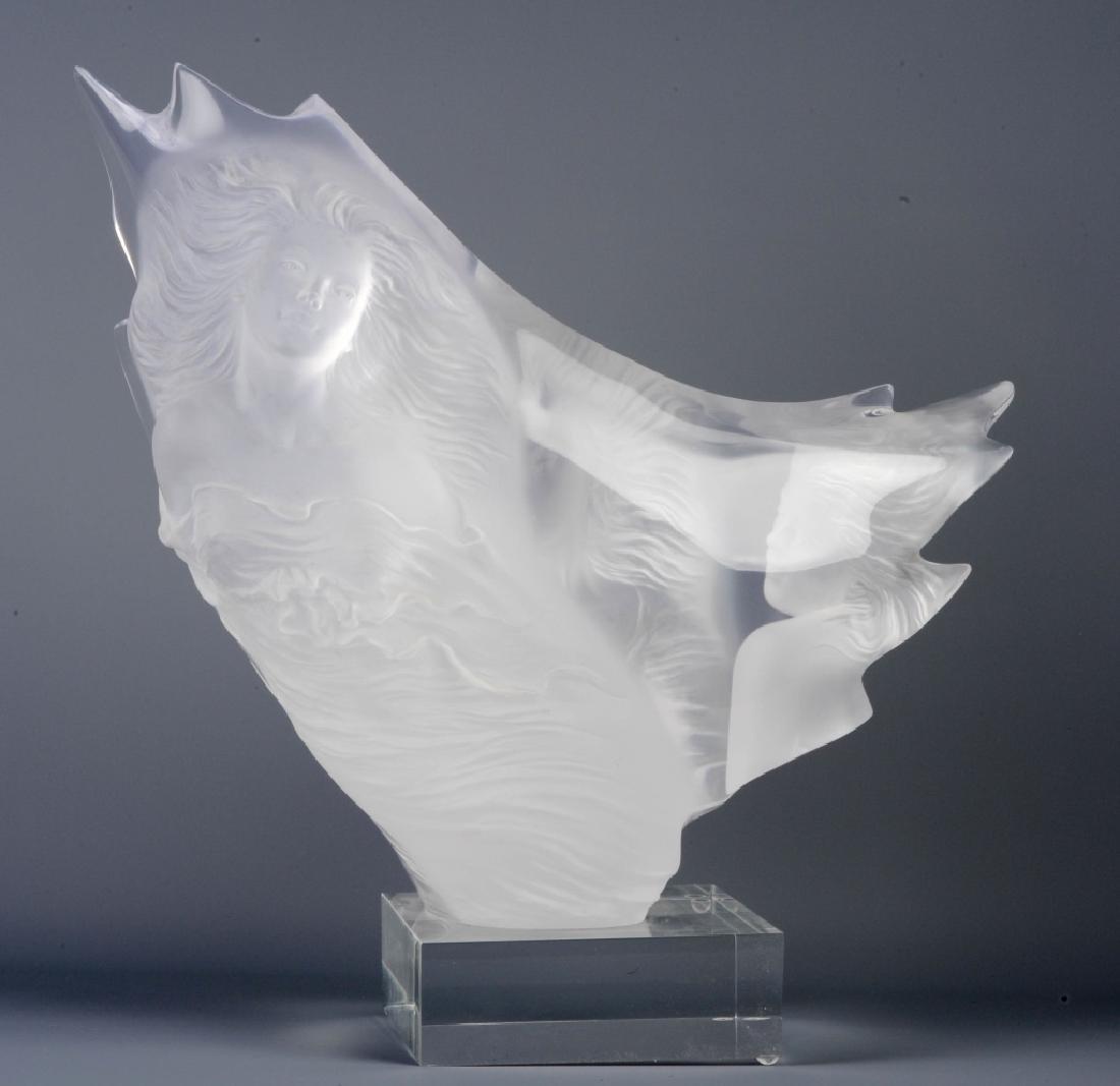 """MICHAEL WILKINSON L/E Graces Lucite Sculpture 17"""""""