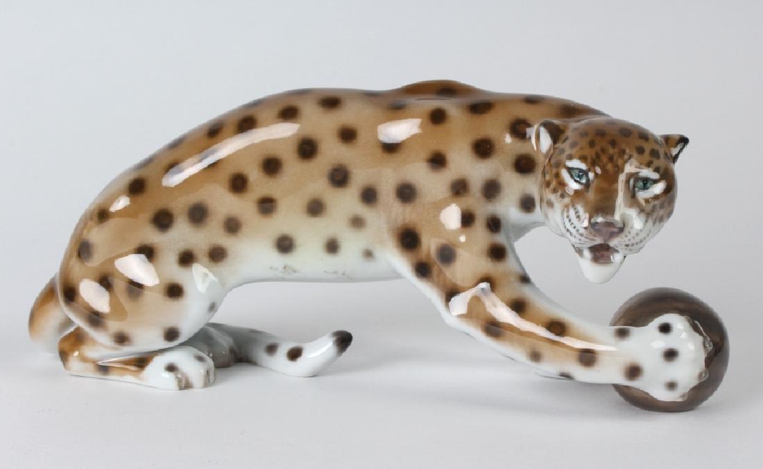 Rosenthal Gerhard Schliepstein Art Deco Leopard
