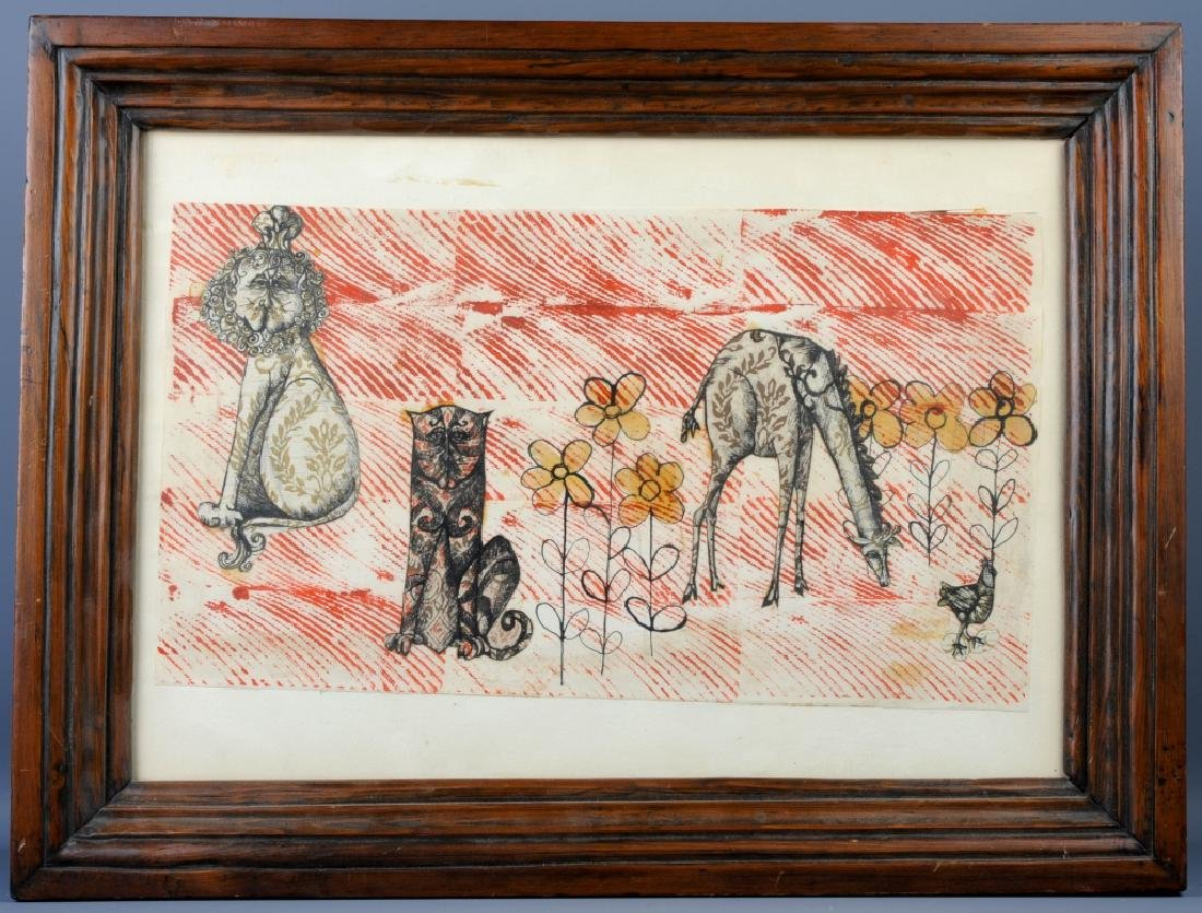 Arnold Blanch M-Media ANIMALS Collage Art LISTED