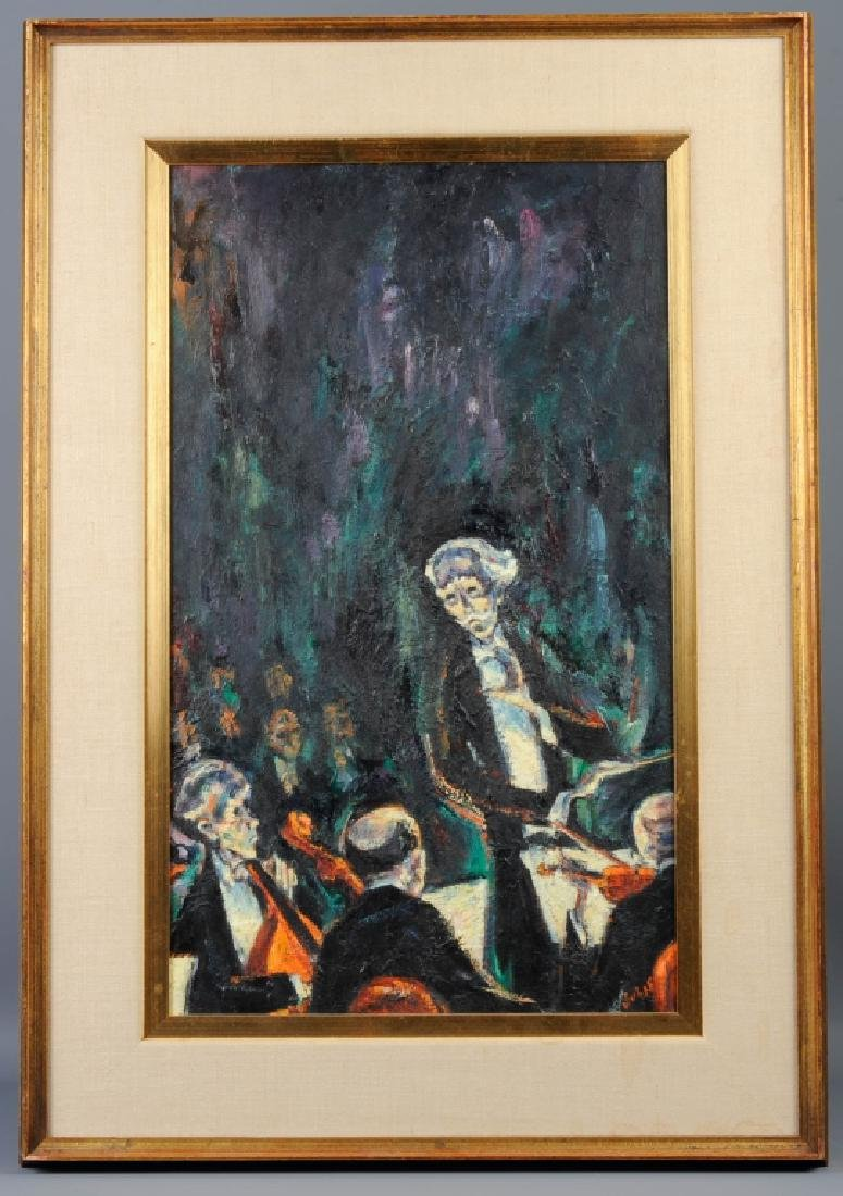 Mervin Jules THE CONDUCTOR Oil Painting LISTED