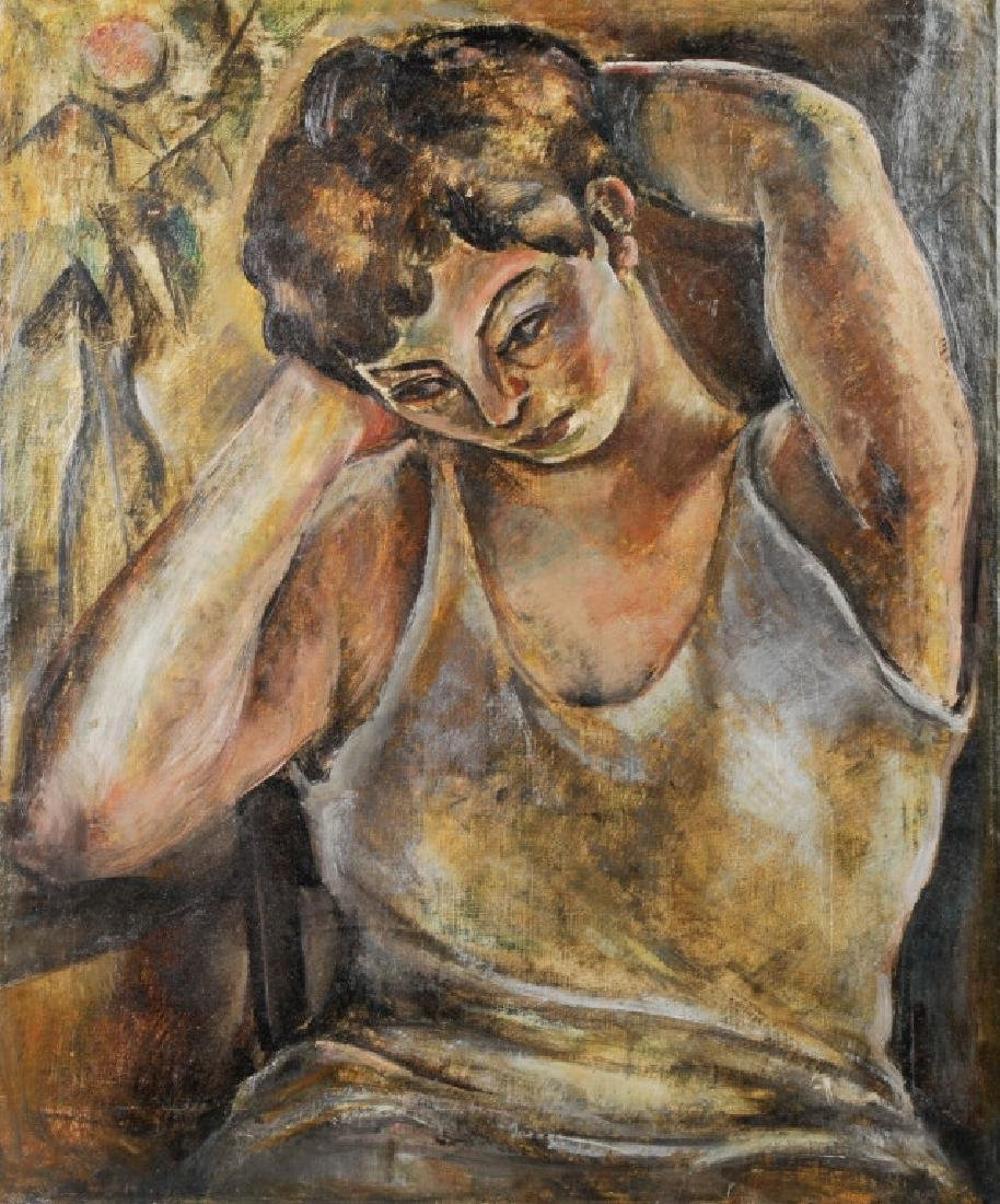 Arnold Blanch Female Portrait Oil Painting LISTED