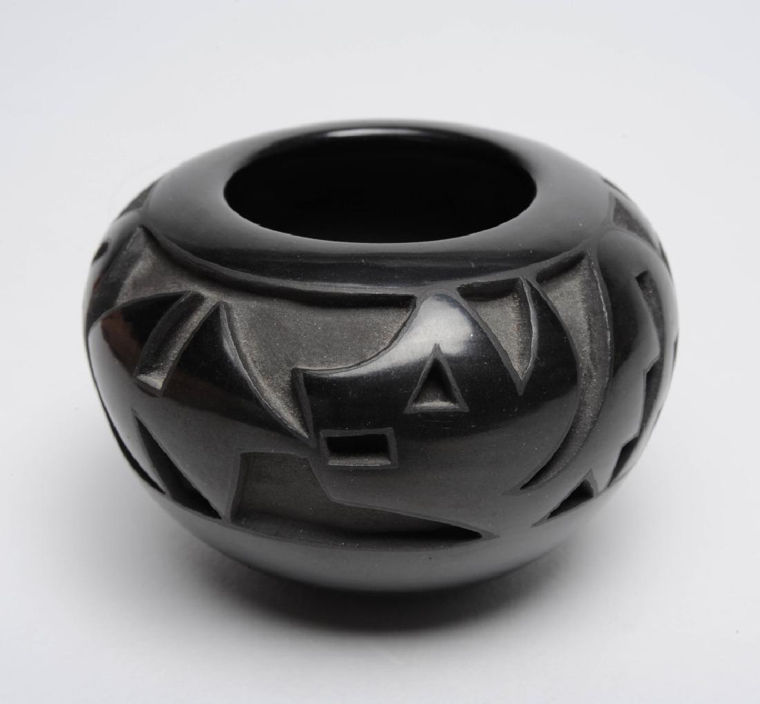 Marie Suazo Black Santa Clara Pottery Miniature