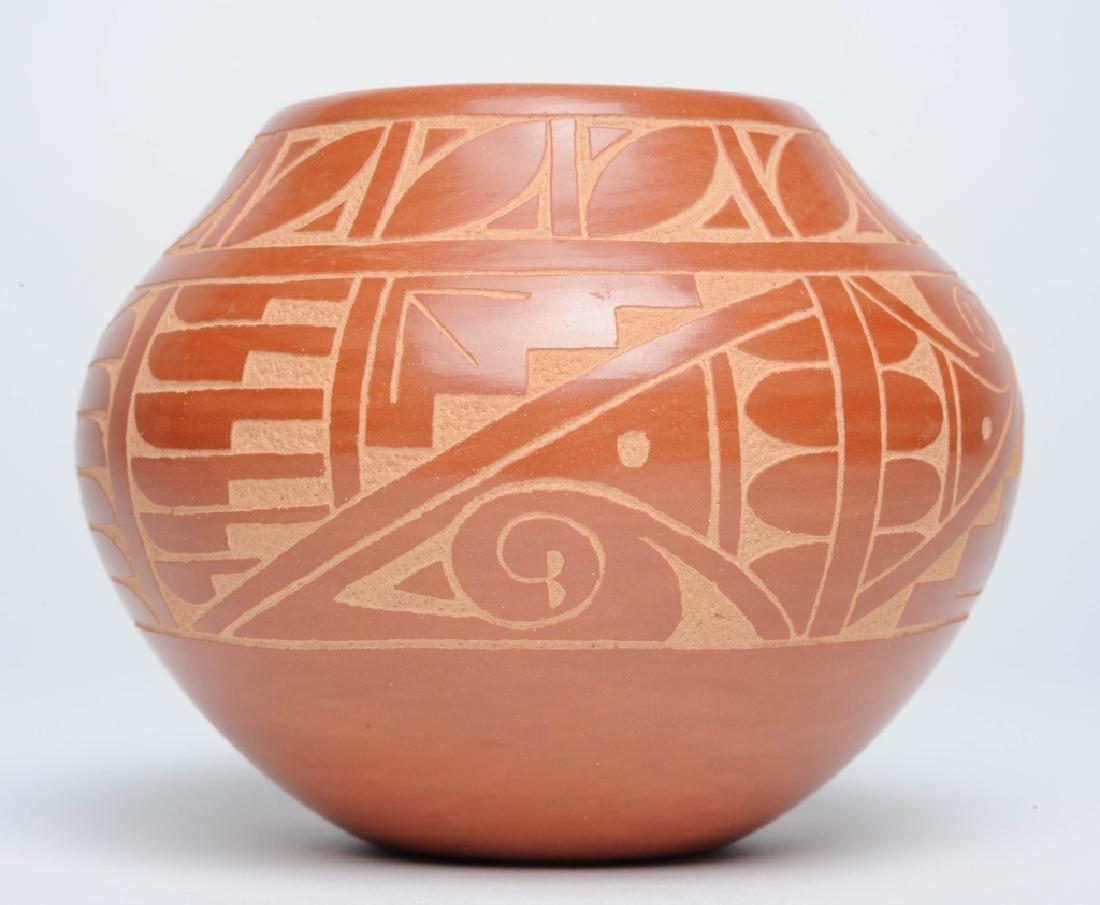Alvina Yepa Sgraffito Native American Pottery Vase
