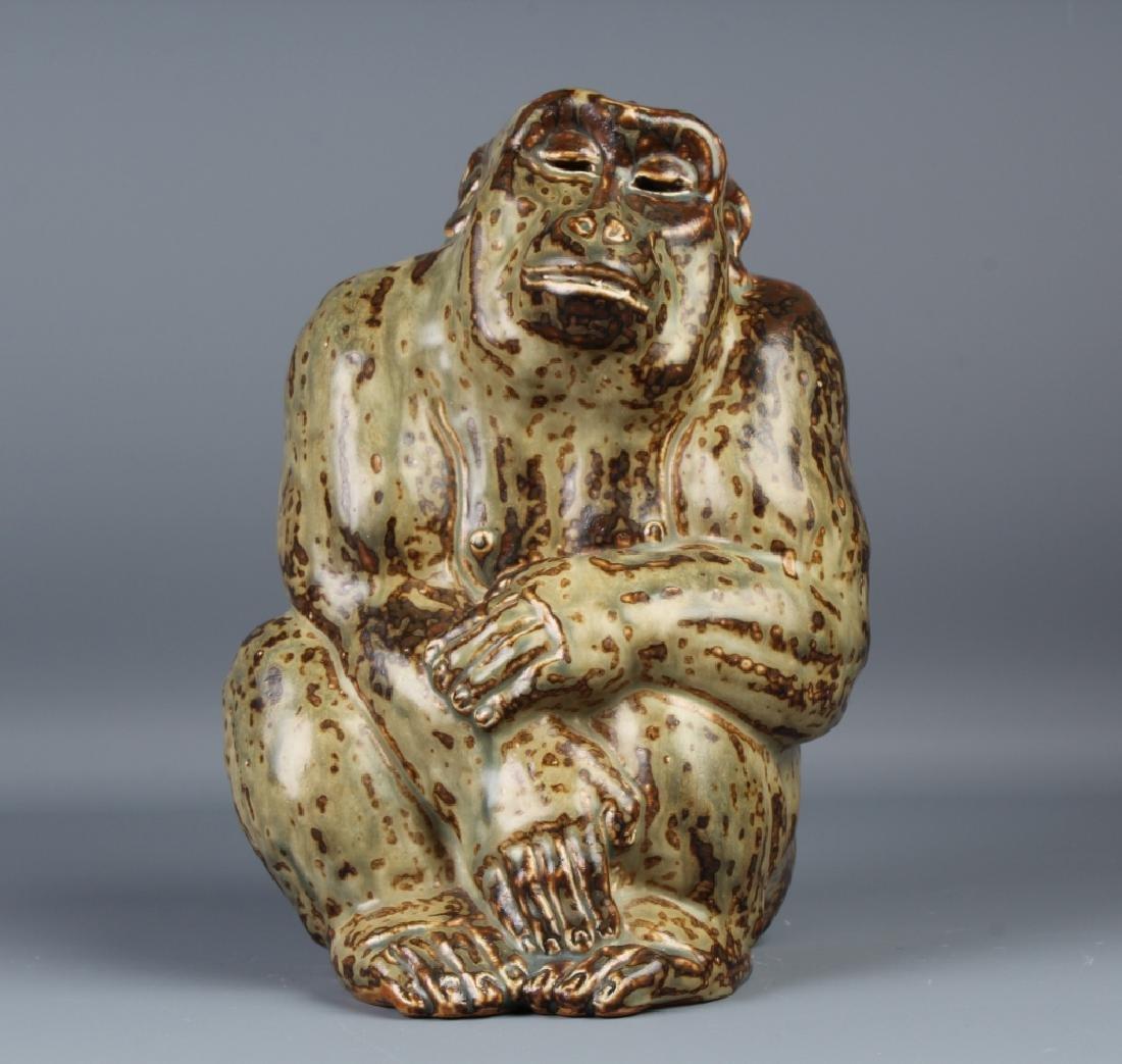 Knud Kyhn Royal Copenhagen Stoneware Gorilla