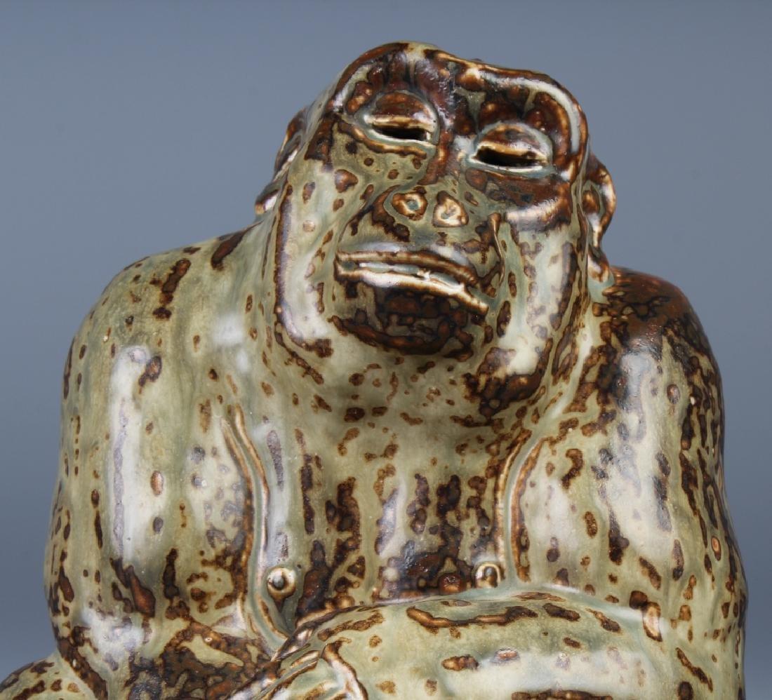 Knud Kyhn Royal Copenhagen Stoneware Gorilla - 2